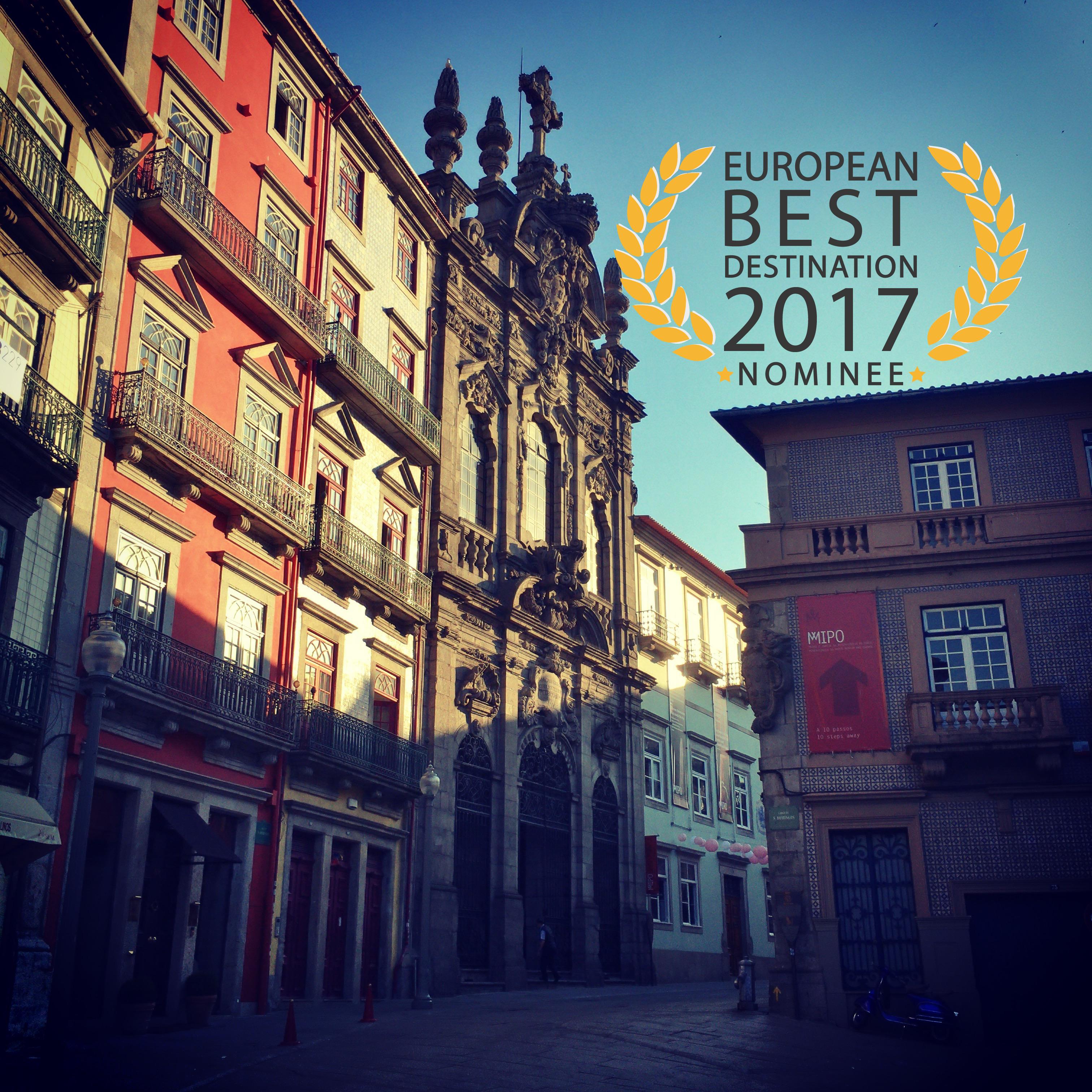 Porto nominé pour la plus belle destination européen 2017