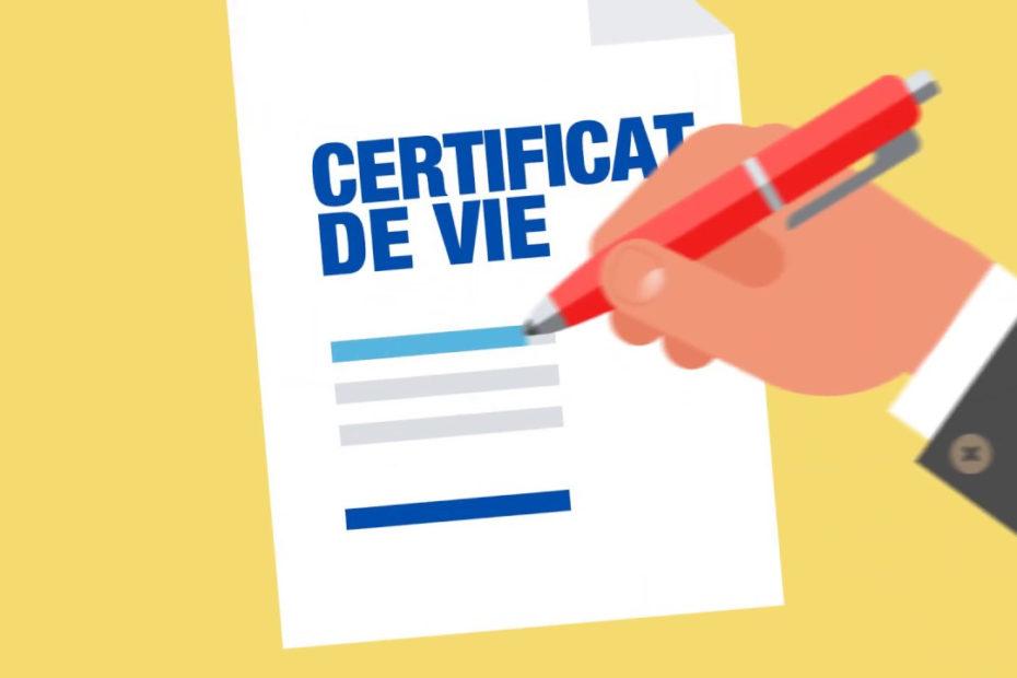 certificat d'existence
